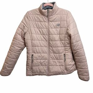 New Balance Pink Quilted Puffer Jacket